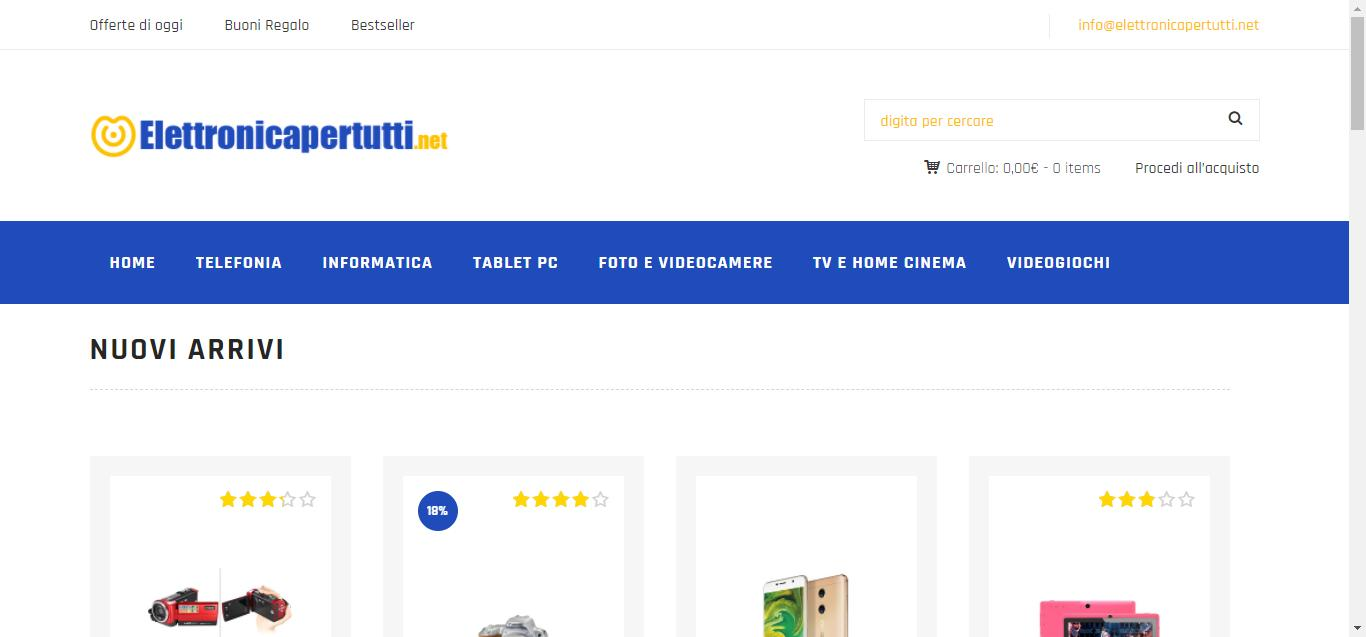 - Elettronica per tutti     Il tuo E commerce di fiducia Gianluca Gentile 01 - Elettronica per tutti