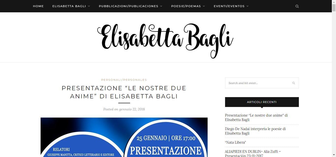 - Elisabetta Bagli     Solo un altro sito WordPress Gianluca Gentile 01 - Elisabetta Bagli