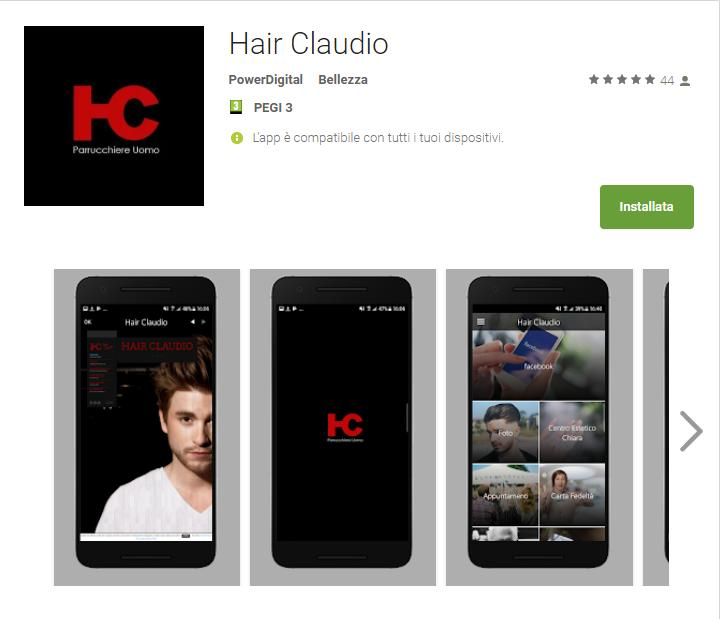 - Hair Claudio App Android su Google Play - App Hair Claudio