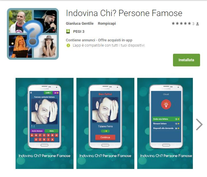 - Indovina Chi  Persone Famose App Android su Google Play Gianluca Gentile - Indovina Chi? Persone Famose