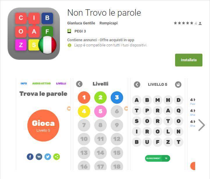 - Non Trovo le parole App Android su Google Play Gianluca Gentile - Non trovo le Parole