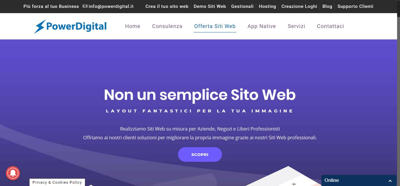 - Offerta Siti Web   Power digital Gianluca Gentile 03 - Power Digital