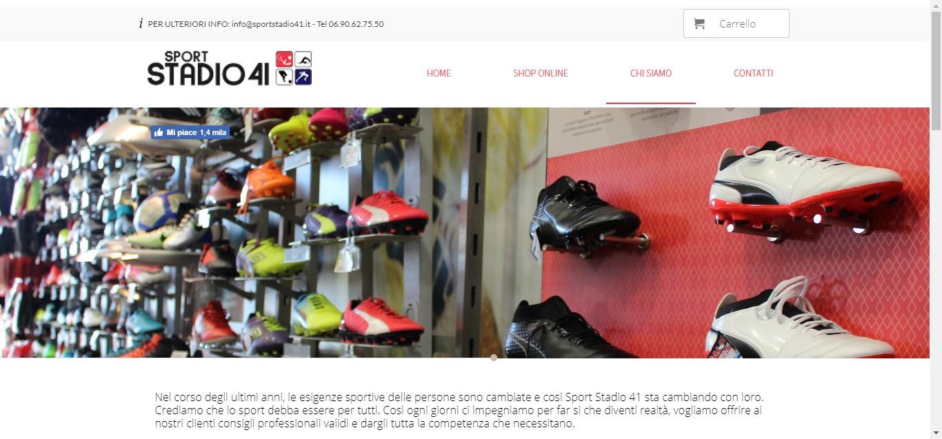 Sport Stadio 41 - about Sport Stadio 41 Monterotondo Negozio di Abbigliamento Gianluca Gentile 02 - Sport Stadio 41