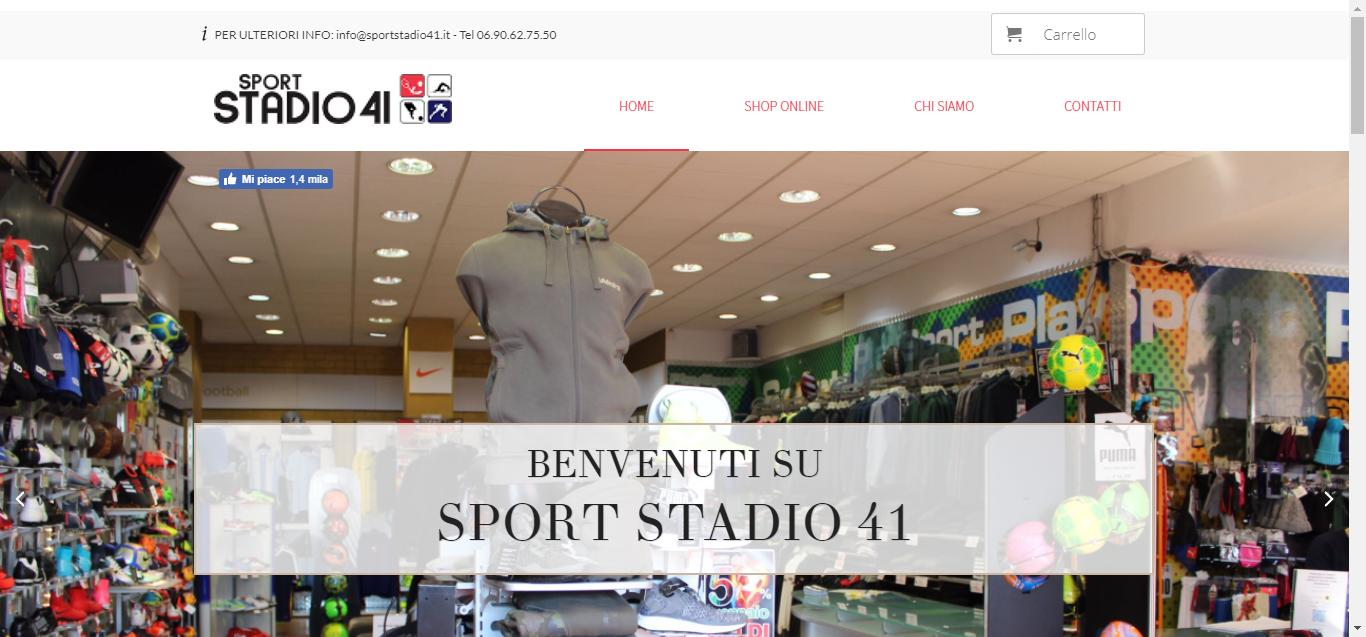 Sport Stadio 41 - home Sport Stadio 41 Monterotondo Negozio di Abbigliamento Gianluca Gentile 01 - Sport Stadio 41