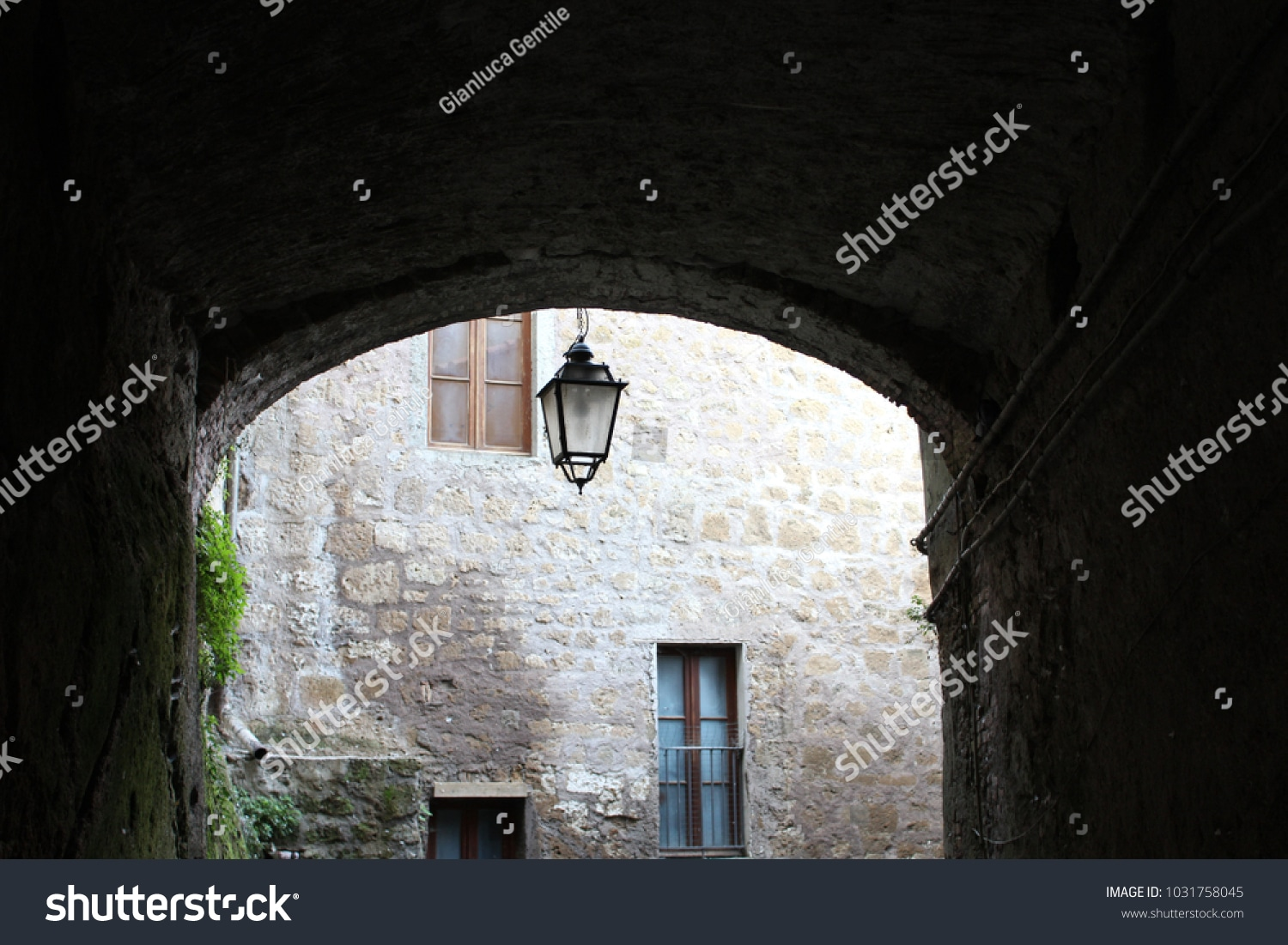 - stock photo a small avenue of the historical center 1031758045 - A small avenue of the historical center