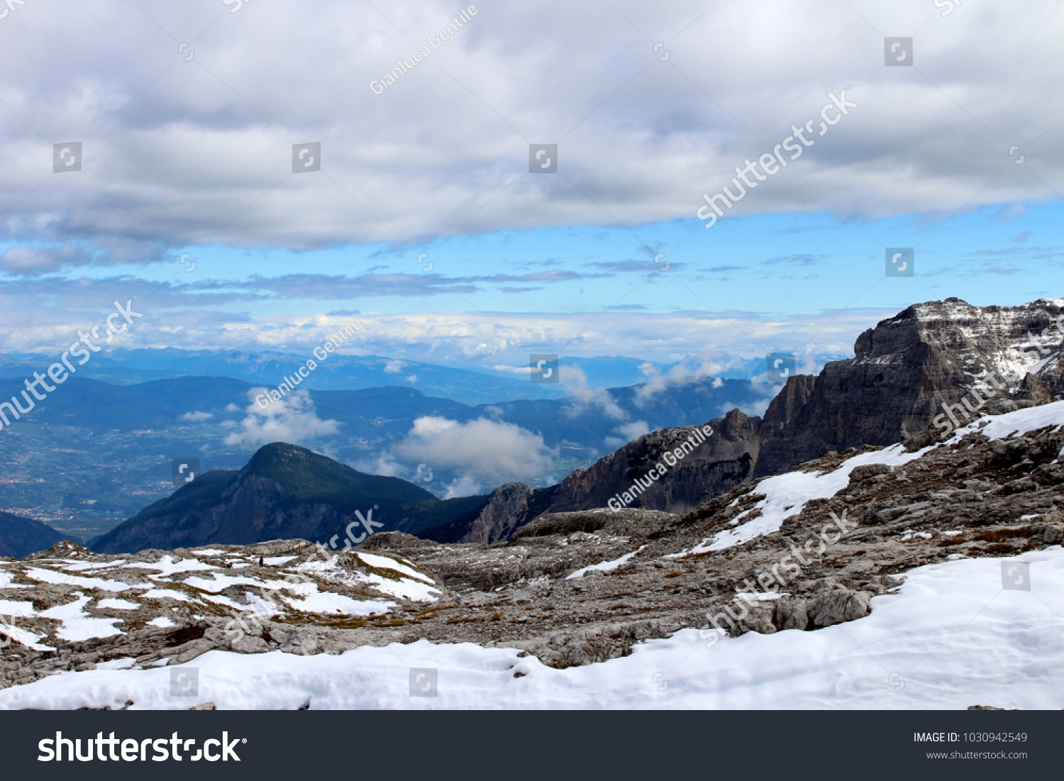 - stock photo fantastic view on the trentino s alps look at the magic of the snow 1030942549 - Fantastic view on the Trentino's Alps