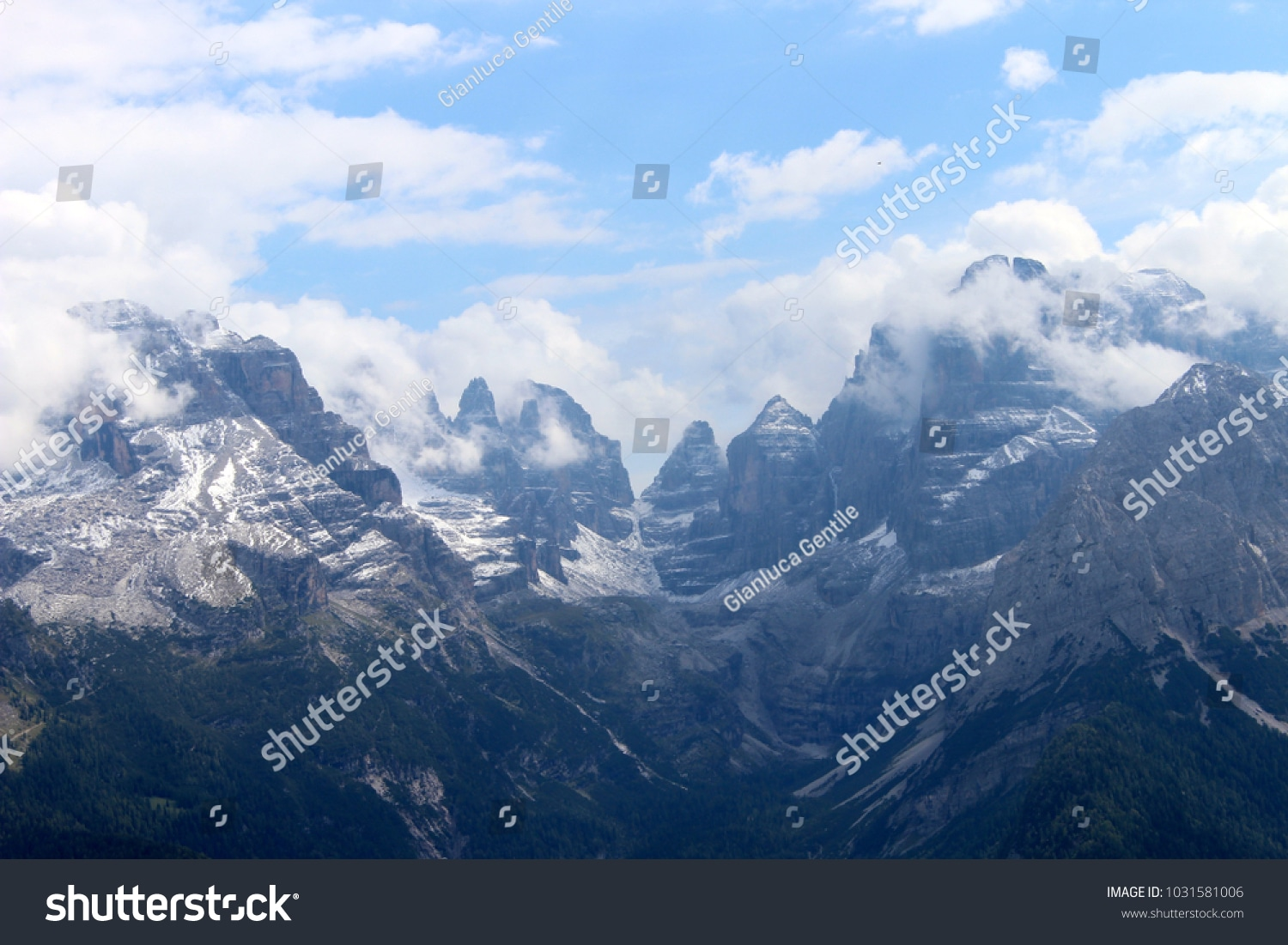 - stock photo the tallest peaks of the trentino unbelievable sight 1031581006 - The tallest peaks of the Trentino, unbelievable sight