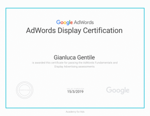 - Certificazione AdWords Display Certification Gianluca Gentile 300x232 - Curriculum