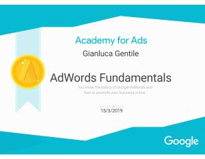 - Certificazione AdWords Fundamentals Gianluca Gentile 300x232 - Curriculum