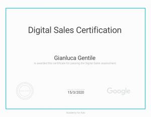 - Certificazione Digital Sales Certification Gianluca Gentile 300x232 - Curriculum