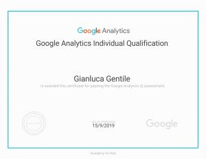 - Certificazione Google Analytics Individual Qualification Gianluca Gentile 300x232 - Curriculum