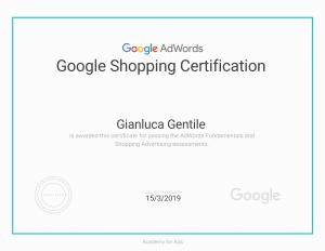 - Certificazione Google Shopping Certification Gianluca Gentile 300x232 - Curriculum