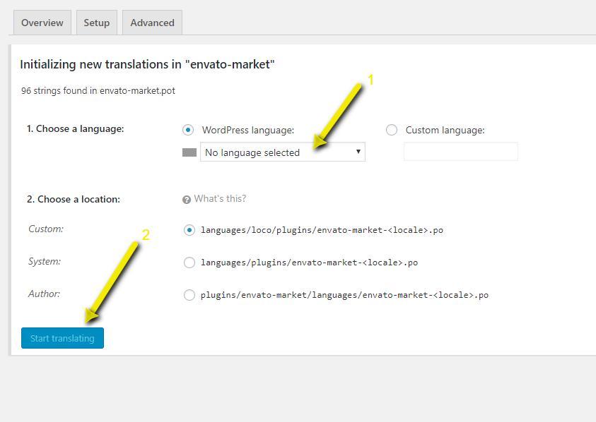 loco translate - Selezionare la lingua in loco translate - Loco Translate il plugin per tradurre template e plugin