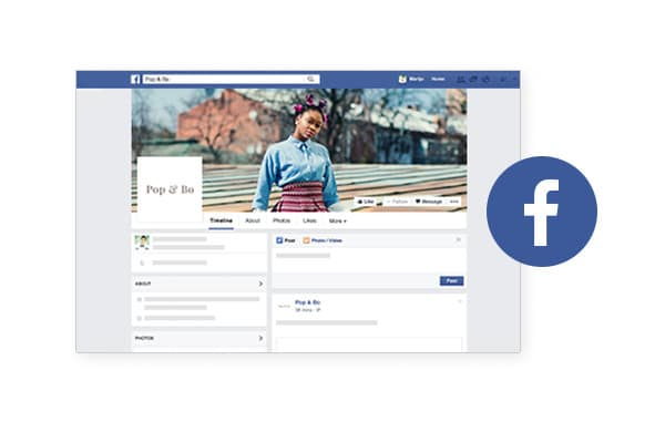 Pagina Facebook integrazione site builder