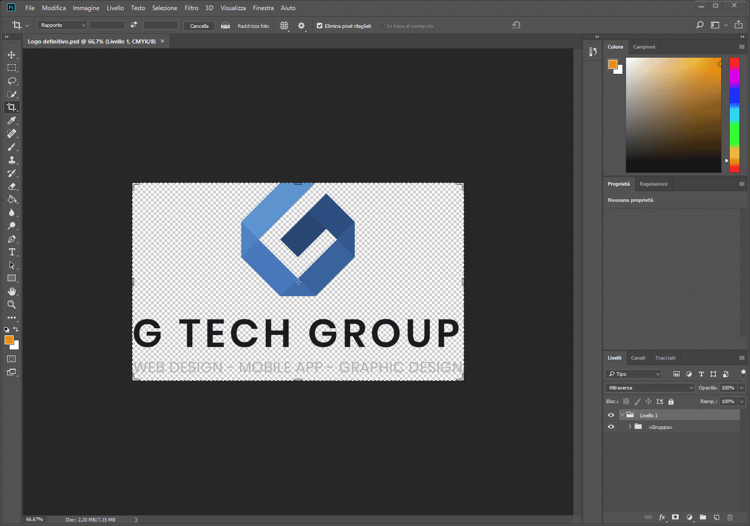Adobe Photoshop cc adobe photoshop cc - Photoshop con logo G Tech Group - Adobe Photoshop cc, cos'è e come utilizzarlo