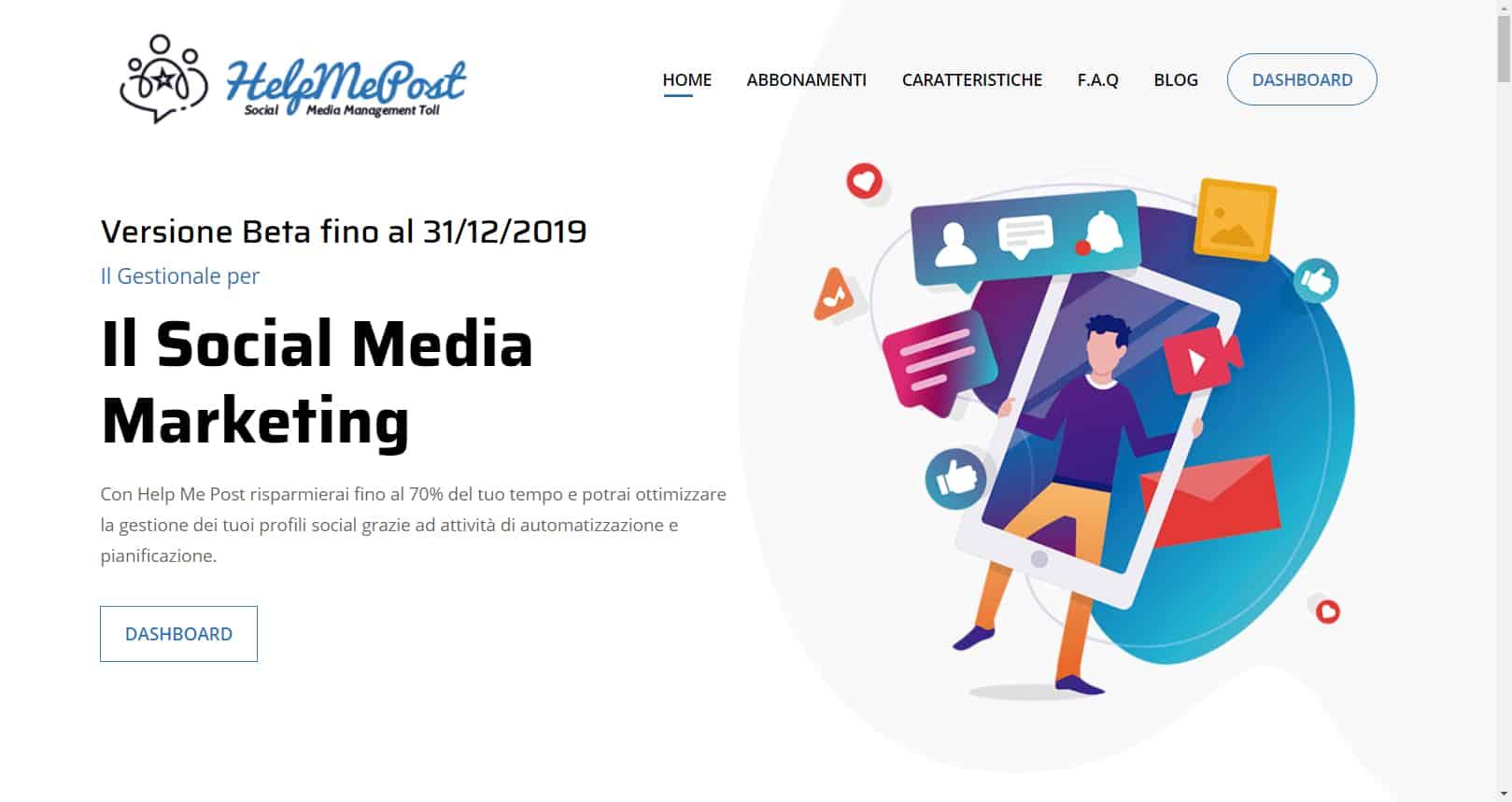 social media manager - Help me post Social Media Management Cloud Tool 14 - Social media manager tool con Help Me Post