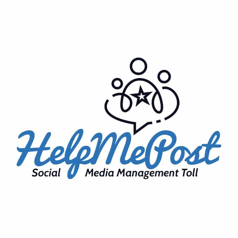 social media manager - Logo Help Me Post Social  - Social media manager tool con Help Me Post