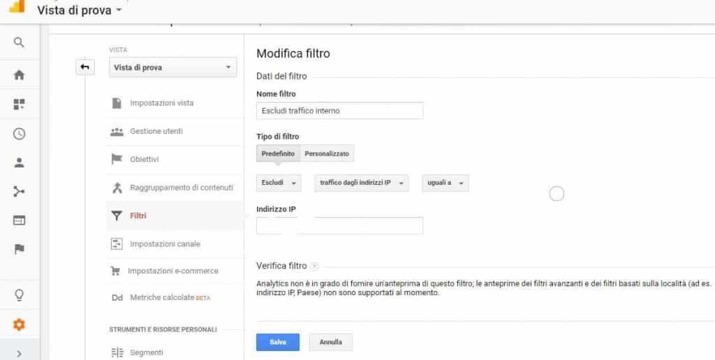 Google Analytics - Filtro Vista google analytics - Google Analytics filtro Vista 1024x516 - Google Analytics come funziona e perché è importante conoscerlo