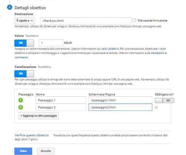 google analytics - dettagli obiettivo google analytics - dettagli obiettivo - Google Analytics come funziona e perché è importante conoscerlo