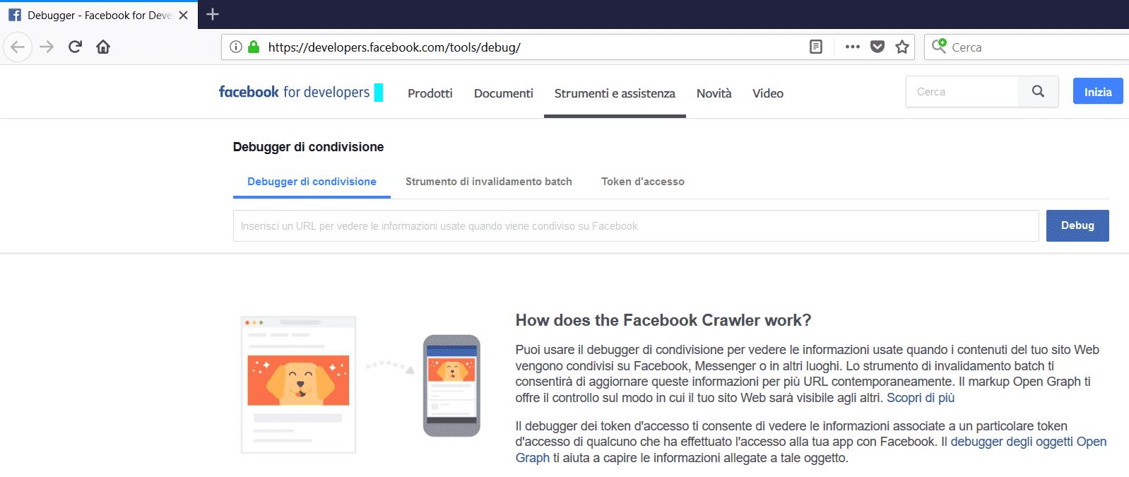 Facebook Link debugger facebook link debugger - debugger tool - Facebook Link Debugger cos'è e come utilizzare questo strumento